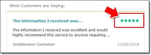 JustAnswer Customer Feedback