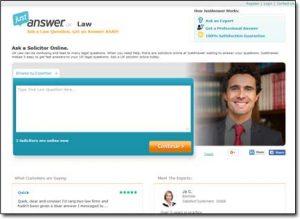 Justanswer Website Screenshot
