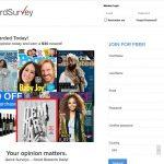 Reward Survey Website Screenshot