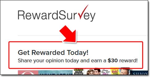 Reward Survey Earnings Claim