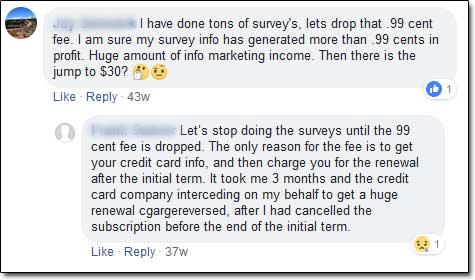 Reward Survey Processing Fee