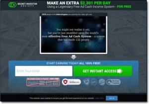 Secret Investor Society System Website Screenshot