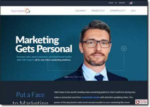 Talk Fusion Website Screenshot