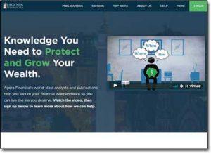 Agora Financial Website Screenshot