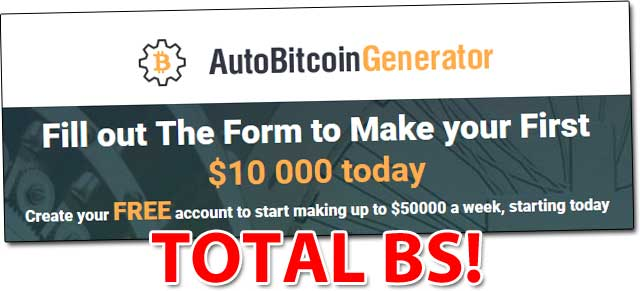 Auto Bitcoin Generator - Scam Exposed! Read My Honest Review Before