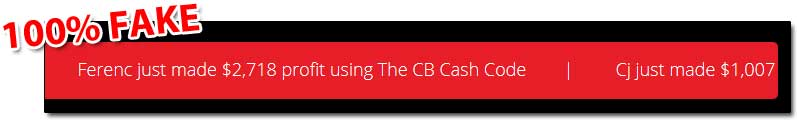 CB Cash Code Fake Profits