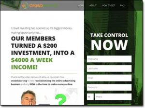 Crowd Profits System Website Screenshot