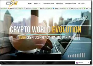 Crypto World Evolution Website Screenshot