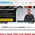 Gold Opinions Website Screenshot