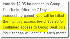 Group Deal Tools Cost