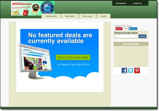 Group Deal Tools Daily Deals Site
