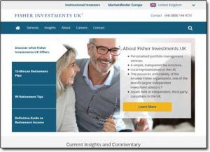 Ken Fisher Investments Website Screenshot