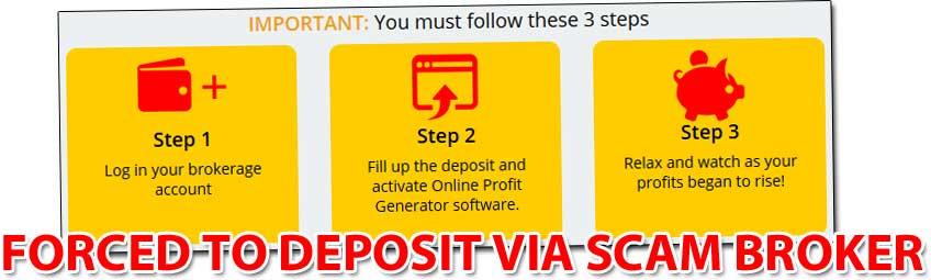 Online Profit Generator Scam Broker
