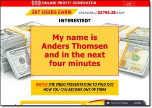 Online Profit Generator System Website Screenshot