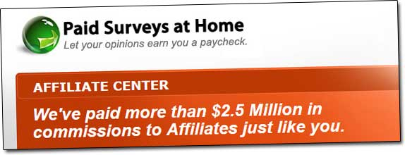Paid Surveys At Home Affiliate