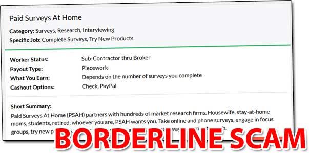 Paid Surveys At Home Website Listing
