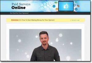 Paid Surveys Online Website Screenshot