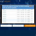 Secret Affiliate System Website Screenshot