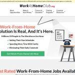 Work At Home Club Website Screenshot