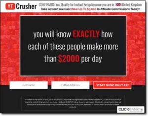 YT Crusher System Website Screenshot