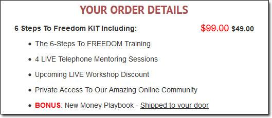 6 Steps To Freedom Kit Description