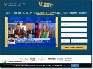 AD Formula System Website Screenshot