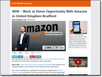 Amazon Wealth Program Website Screenshot