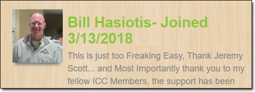 Insiders Cash Club Bill Hasiotis Fake Testimonial