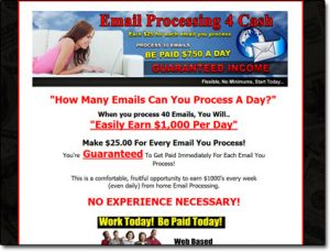 Email Processing 4 Cash System Website Screenshot