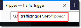 Flipped Traffic Trigger Website