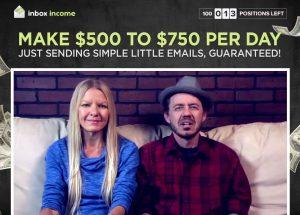 Inbox Income System Website Screenshot