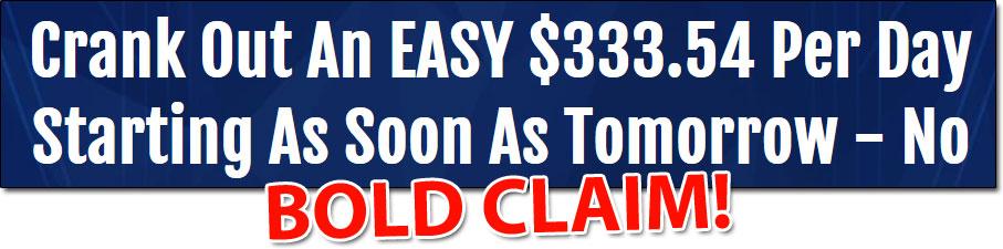 Insta-Minator Bold Income Claim
