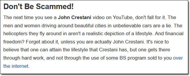 John Crestani Scam