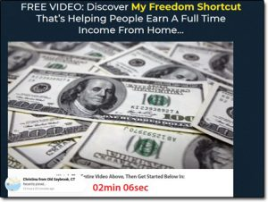 The Freedom Shortcut System Website Screenshot
