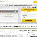 Binary Option Auto Trading System Website Screenshot
