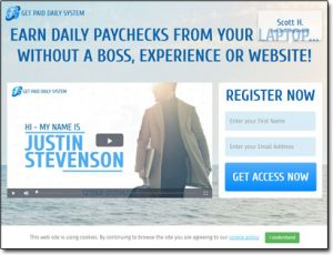 Get Paid Daily System Website Screenshot