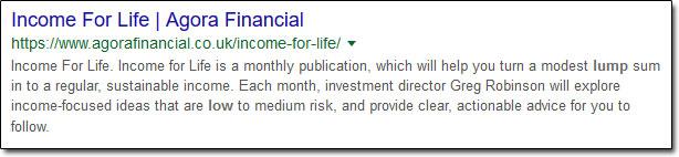 Income For Life Agora Financial