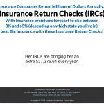 Insurance Return Checks Website Screenshot