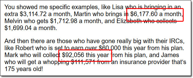 Insurance Return Checks Income Claims