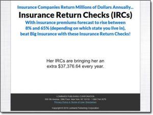 Insurance Return Checks Website Screenshot