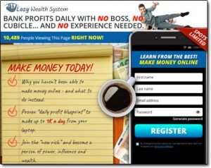 Lazy Wealth System Website Screenshot