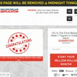 Million Dollar Replicator System Website Screenshot