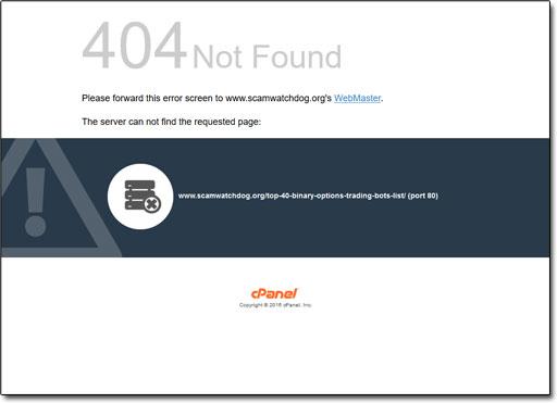 Scam Watchdog Not Found Error Message