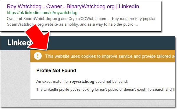 Roy Watchdog LinkedIn Profile