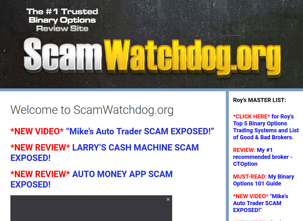 Binary options watchdog scam