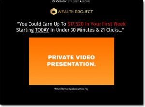 Wealth Project System Website Screenshot