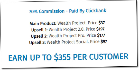 Wealth Project Upsells