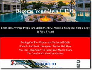 Instant Cash Solution System Website Screenshot