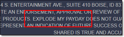 Private Cash Sites Explode My Payday Disclaimer