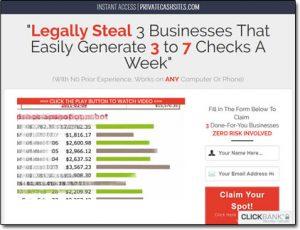 Private Cash Sites System Website Screenshot
